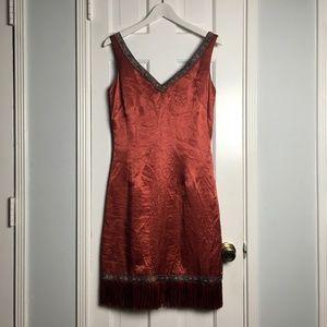 ABS Allenn Schwartz pink ethnic midi dress sz 6